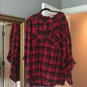 Free people red flannel dress